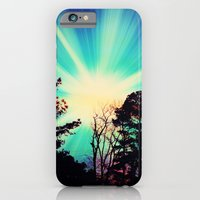 iPhone Cases featuring Black Trees Colorful SKY by 2sweet4words Designs
