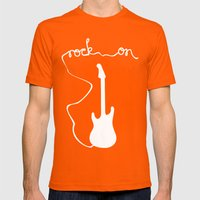 Rock On Mens Fitted Tee Orange SMALL
