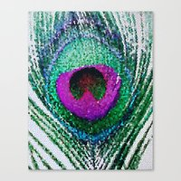 Peacock Bright Canvas Print