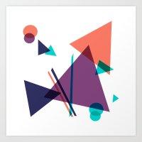 Triangle 16 Pattern Art Print
