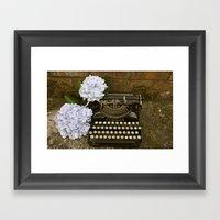 Typewriter With Hydrange… Framed Art Print