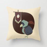 Warrior Bird Throw Pillow