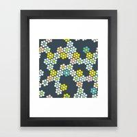 Flower tiles Framed Art Print