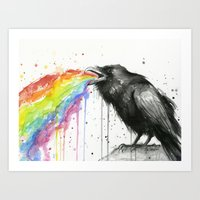 Raven Tastes the Rainbow Art Print