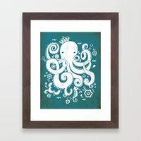 Royal Octopus Framed Art Print