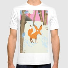 For an adventure Canada Vintage fox travel poster White Mens Fitted Tee SMALL