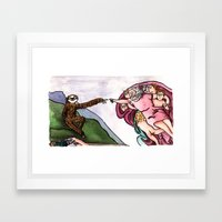 The Creation of Sloth Framed Art Print