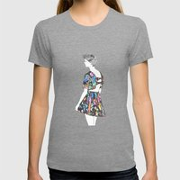 I don't care! Womens Fitted Tee Tri-Grey SMALL