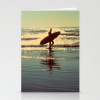 Evening Surf Stationery Cards