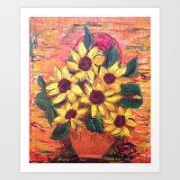 Tuscan Sunflowers Art Print