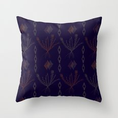 Purple Weeds Throw Pillow