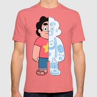 Steve Universe cut-away Mens Fitted Tee Pomegranate SMALL