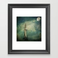 Sail Away Into The Night Framed Art Print