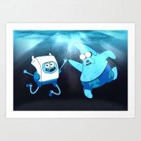 SpongeFinn AdventurePant… Art Print