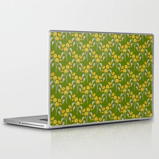 Flowers Green Pattern Laptop & iPad Skin