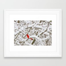 April Snowfall I Framed Art Print