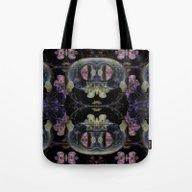 Symmetreats - Floral Gra… Tote Bag