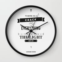 Leonard Cohen, Motivational Quote Wall Clock