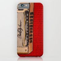 iPhone & iPod Case featuring Bob Dylan's Harmonica  by Emily Storvold