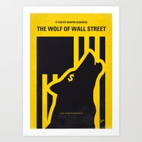 No338 My wolf wallstreet minimal movie poster Art Print