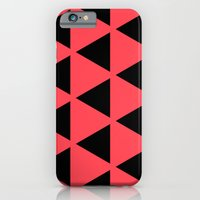 iPhone & iPod Case featuring Sleyer Black on Pink Pattern by Stoflab