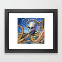 Skulloctopus Framed Art Print