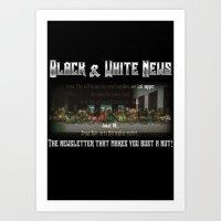 The Black & White Last Supper Art Print