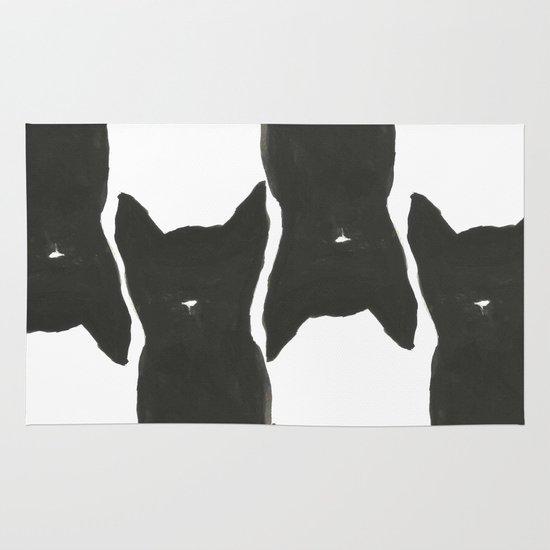 Black Cats Area & Throw Rug