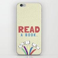 Read a book. iPhone & iPod Skin