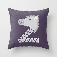Letter Z // Animal Alphabet // Zebra Throw Pillow