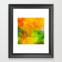 Orange Orchard Framed Art Print