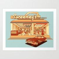 Sweeney's Diner Art Print