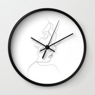 Wall Clock featuring Close by Quibe