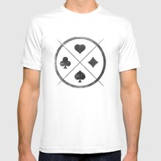 Wild Card White SMALL Mens Fitted Tee