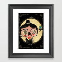 PIGnocchio And The Blue … Framed Art Print