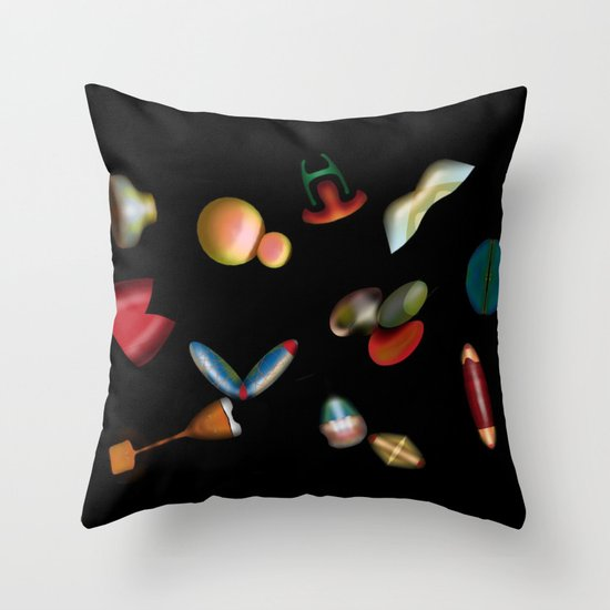 FLYING OBJECTS Throw Pillow