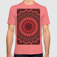 Spiritual Rhythm Mandala Mens Fitted Tee Pomegranate SMALL