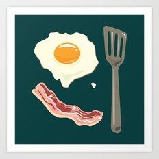 bacon & eggs Art Print