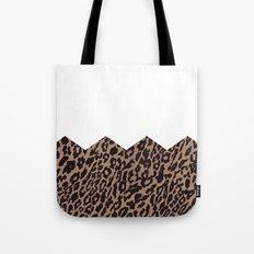 half leopard Tote Bag