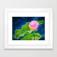 Pink Lotus Beauty Framed Art Print