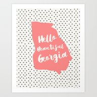 Art Print featuring Hello Beautiful Georgia by Allyson Johnson