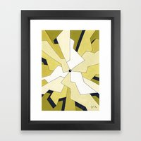 Mono Pattern | The Fragments Framed Art Print
