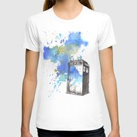 Doctor Who Tardis Womens Fitted Tee White SMALL