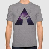 Deer Mens Fitted Tee Athletic Grey SMALL