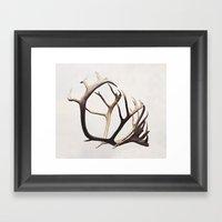 fig. 03   antlers Framed Art Print