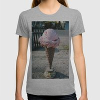 Giant Ice Cream Womens Fitted Tee Athletic Grey SMALL