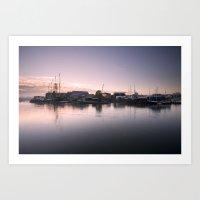 Bristol City Docks Art Print