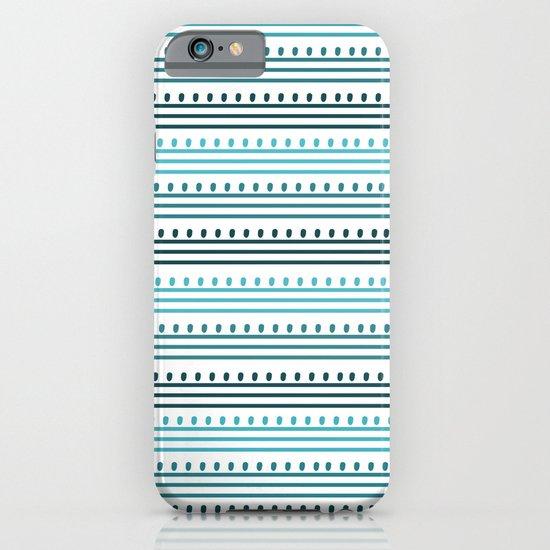 Aqua Lines and Dots iPhone & iPod Case