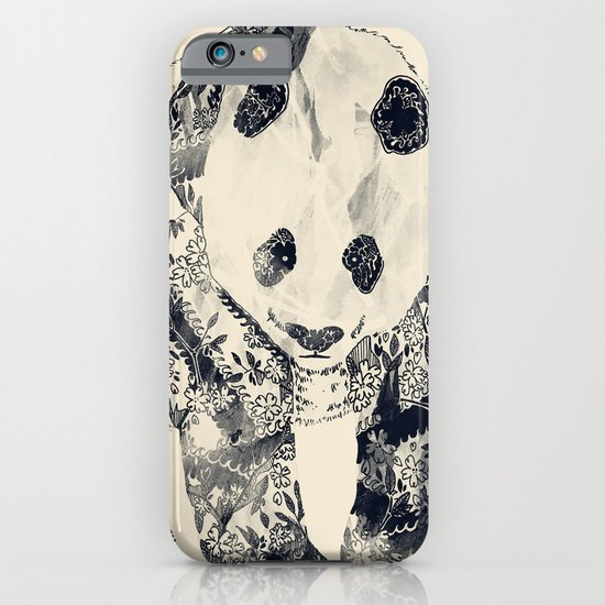 Tattooed Panda {cream} iPhone & iPod Case