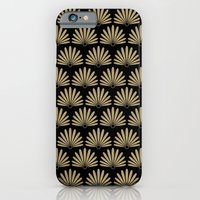 Tan & Black Daisies iPhone 6 Slim Case